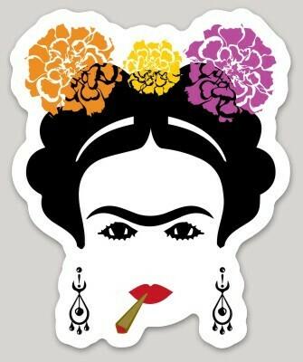 La Frida with Blunt sticker