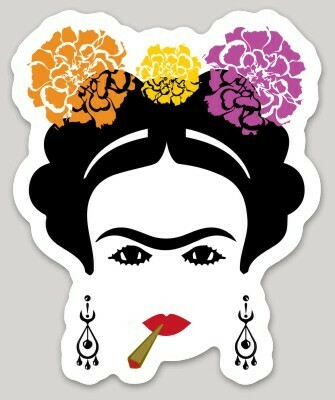 Frida with Blunt Sticker, Chingona Mexican Woman artist, Mexico sticker