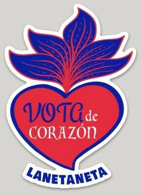 VOTO de Corazón sticker