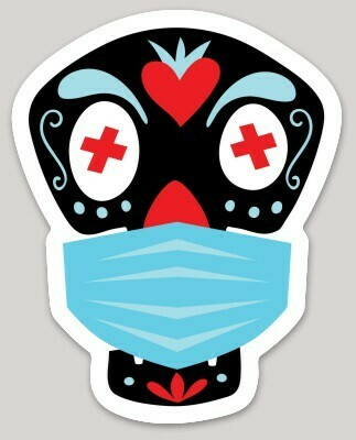 Calaca with Mask sticker