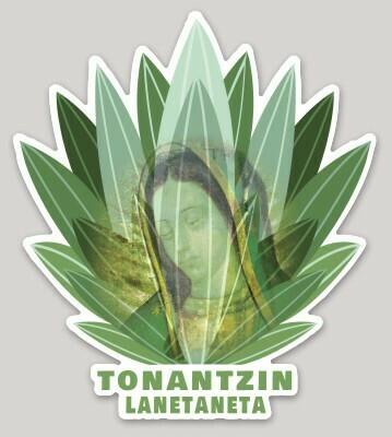 Virgen de Guadalupe Sticker, Vírgen Morena, Tonantzin, agave, magüey, patrona