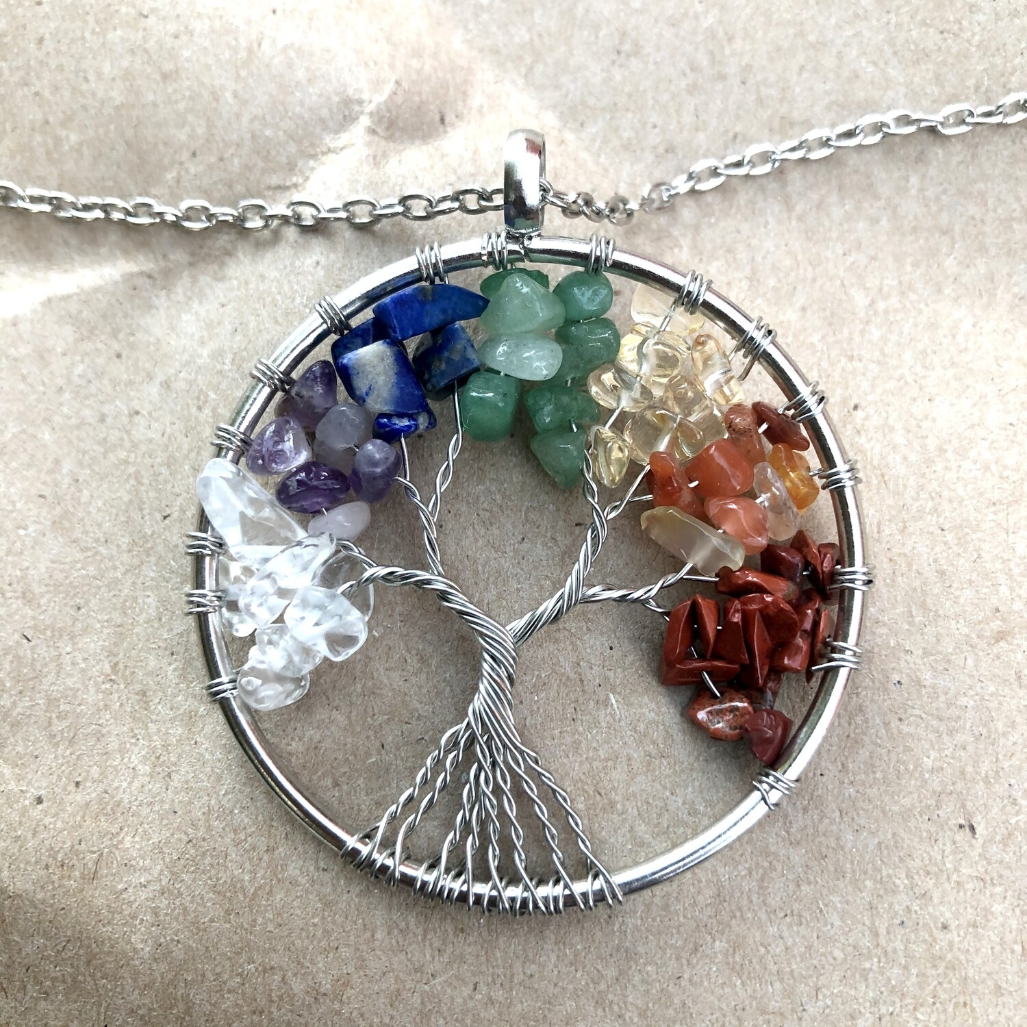 Tree of Life Handmade Wire Warped Necklace