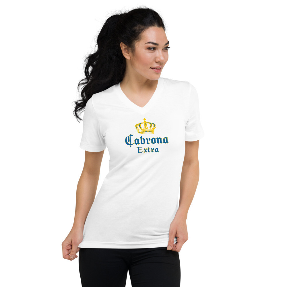 Cabrona Extra Short Sleeve V-Neck T-Shirt