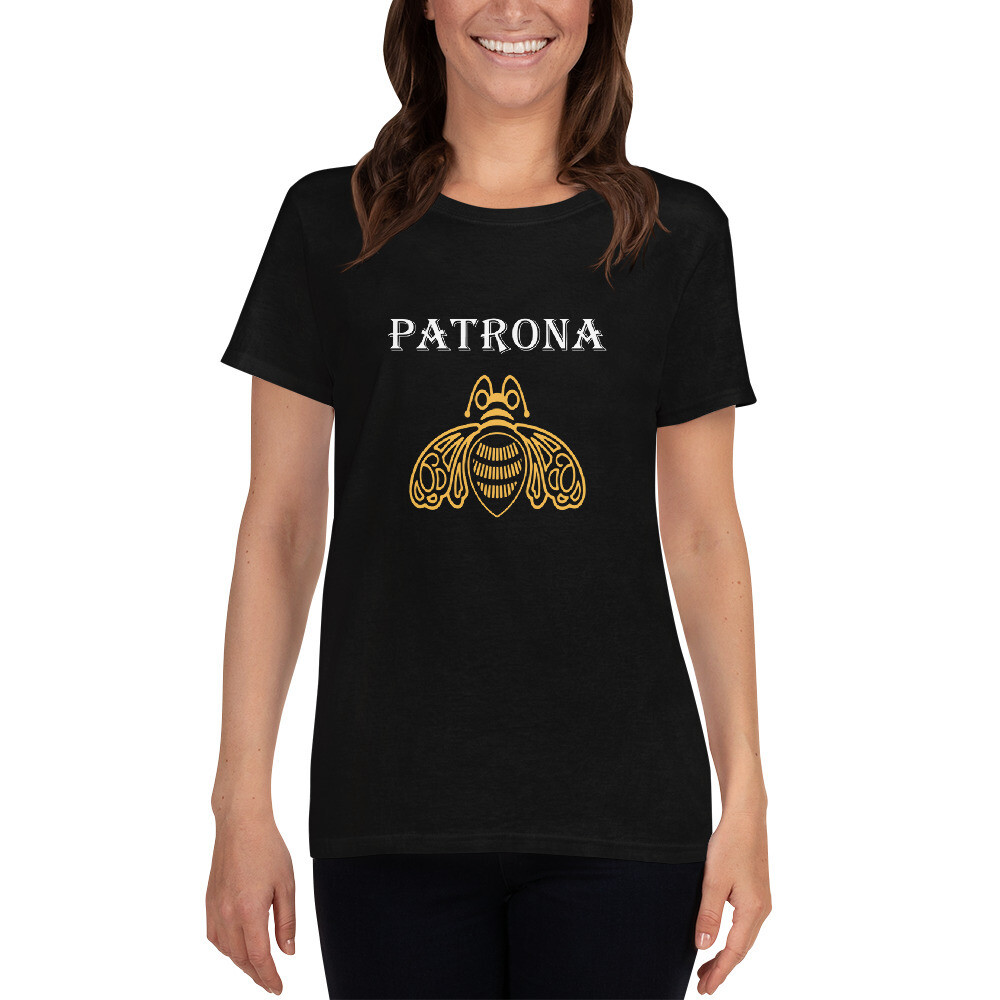 Women's loose short sleeve t-shirt, PATRONA tequila desing