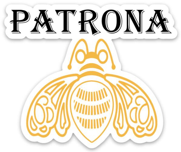 Patrona MAGNET, female boss, abeja reina, La Jefa, La Mera Mera, Chingona, tequila design, laptop, water bottle sticker