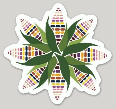 Sacred Corn Circle, Mazorca, Maíz, Water Bottle Sticker