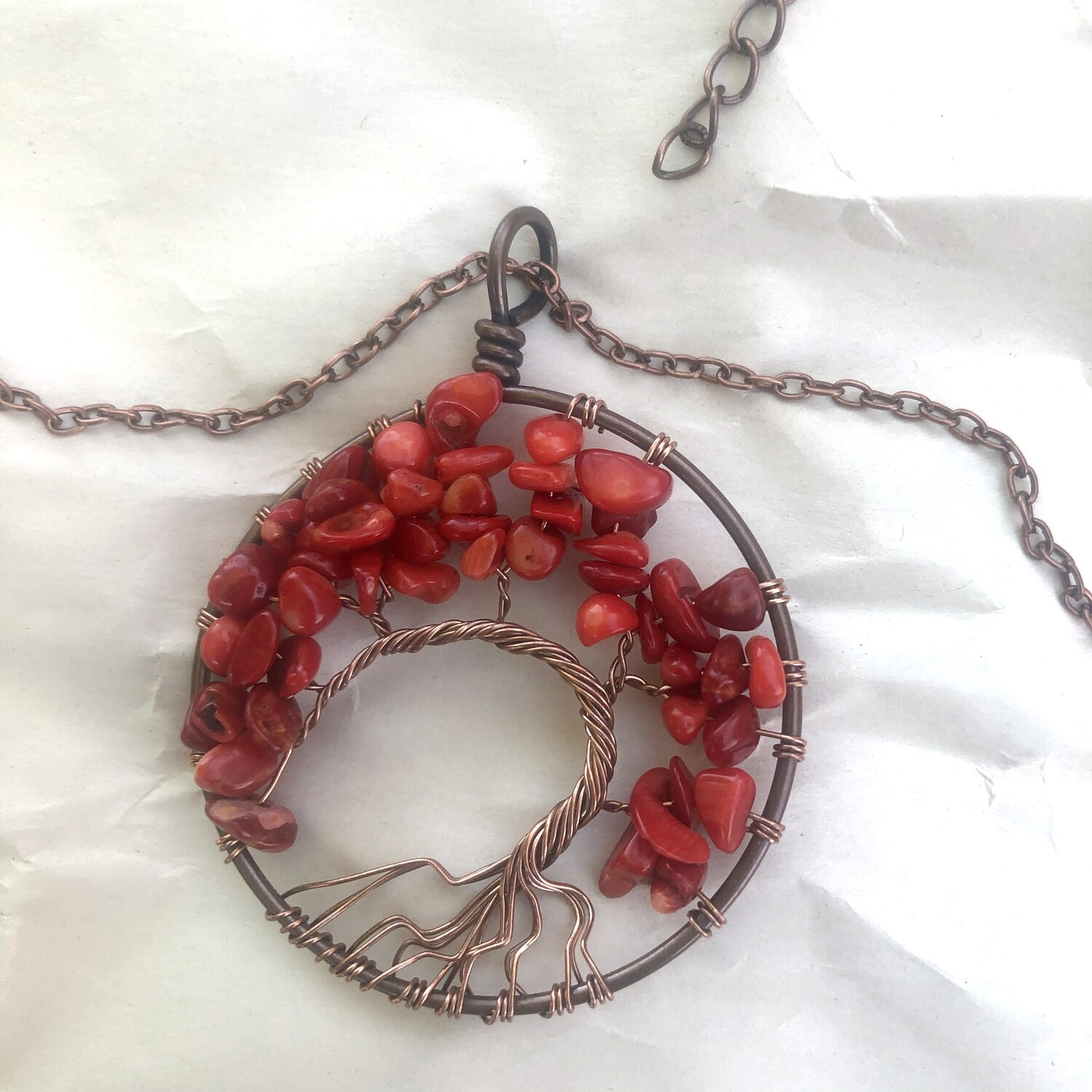 Tree of Life Wire Wrapped Handmade Necklace