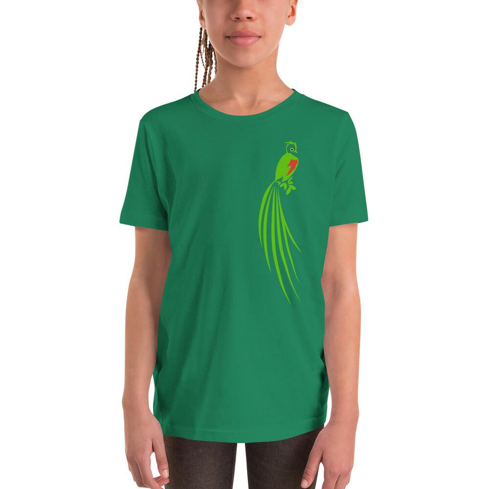 Quetzal Over My Heart Youth Short Sleeve T-Shirt