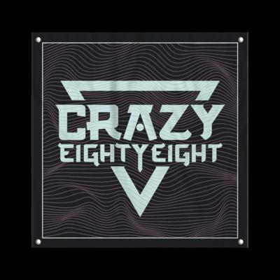 CrazyEightyEight - Logo Wall Flag