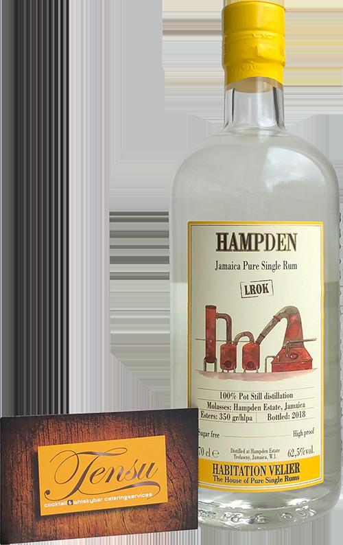 "Velier Rum - Hampden White ""Jamaica Vintage 2018"" [LROK]"