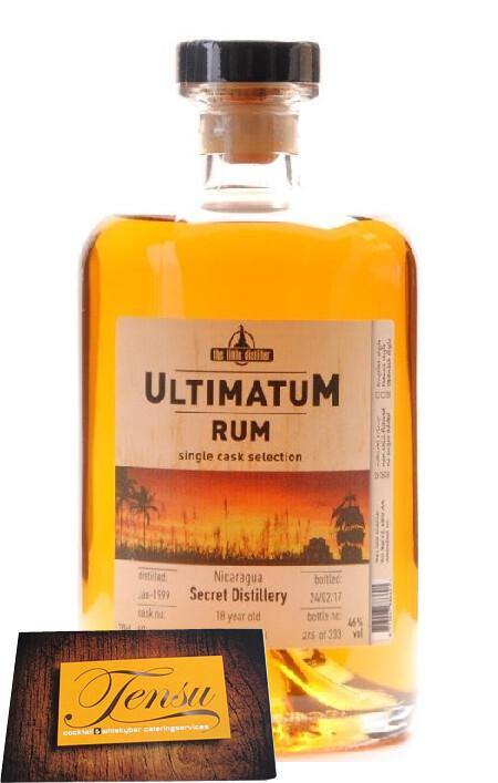 "Secret Distillery 18 Years Old Nicaragua Rum (1999-2017) ""Ultimatum"""