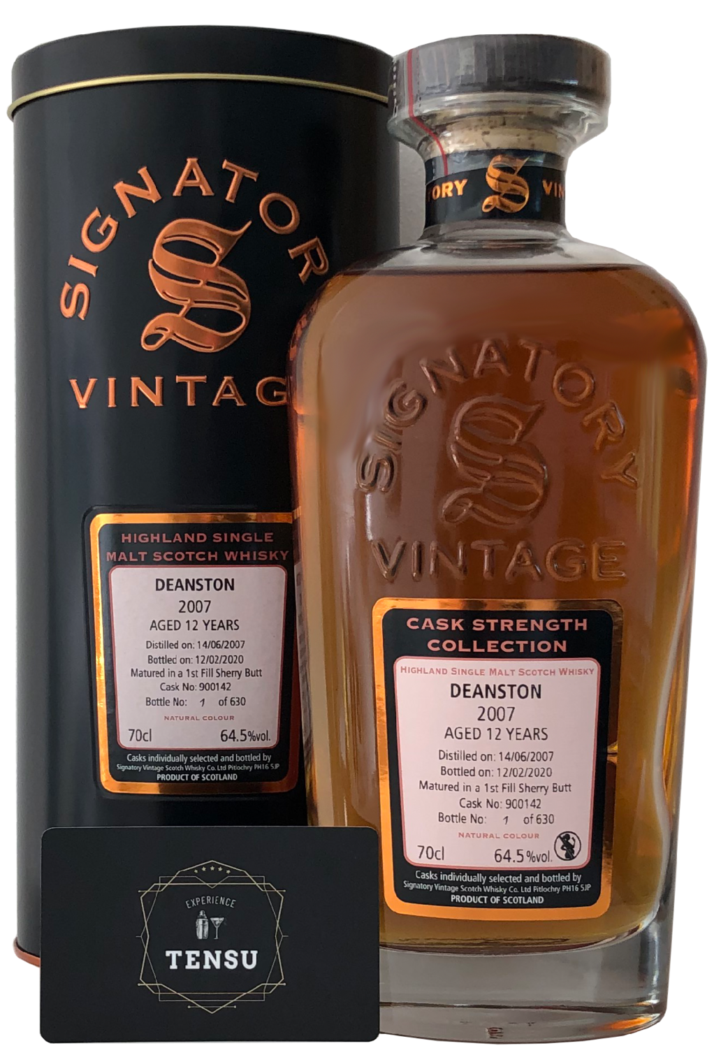 "Deanston 12 Years Old (2007-2020) ""Signatory"""