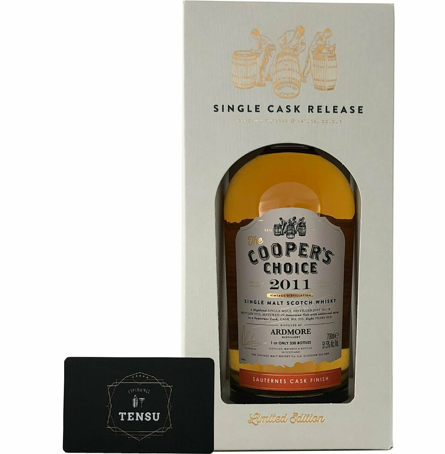 """Ardmore 8 Years Old Sauternes Finish (2011-2020) """"Cooper's Choice"""""""