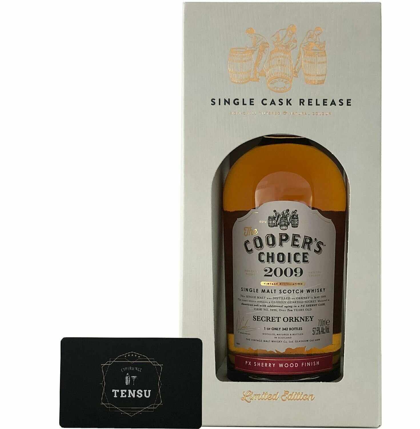 "Secret Orkney 10 Years Old (2009) PX Sherry Finish ""Cooper's Choice"""