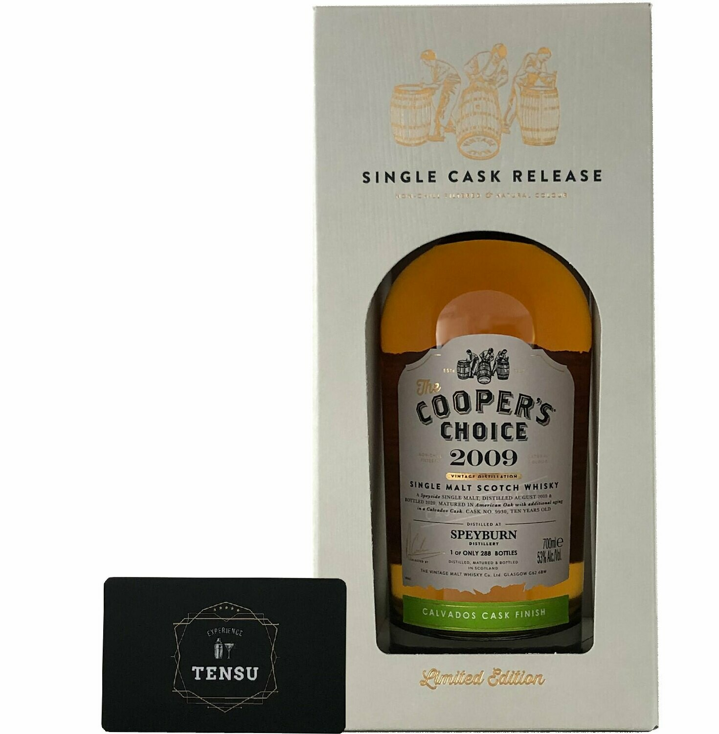 """Speyburn 10 Years Old (2009-2020) Calvados Finish 53.0 """"Cooper's Choice"""""""