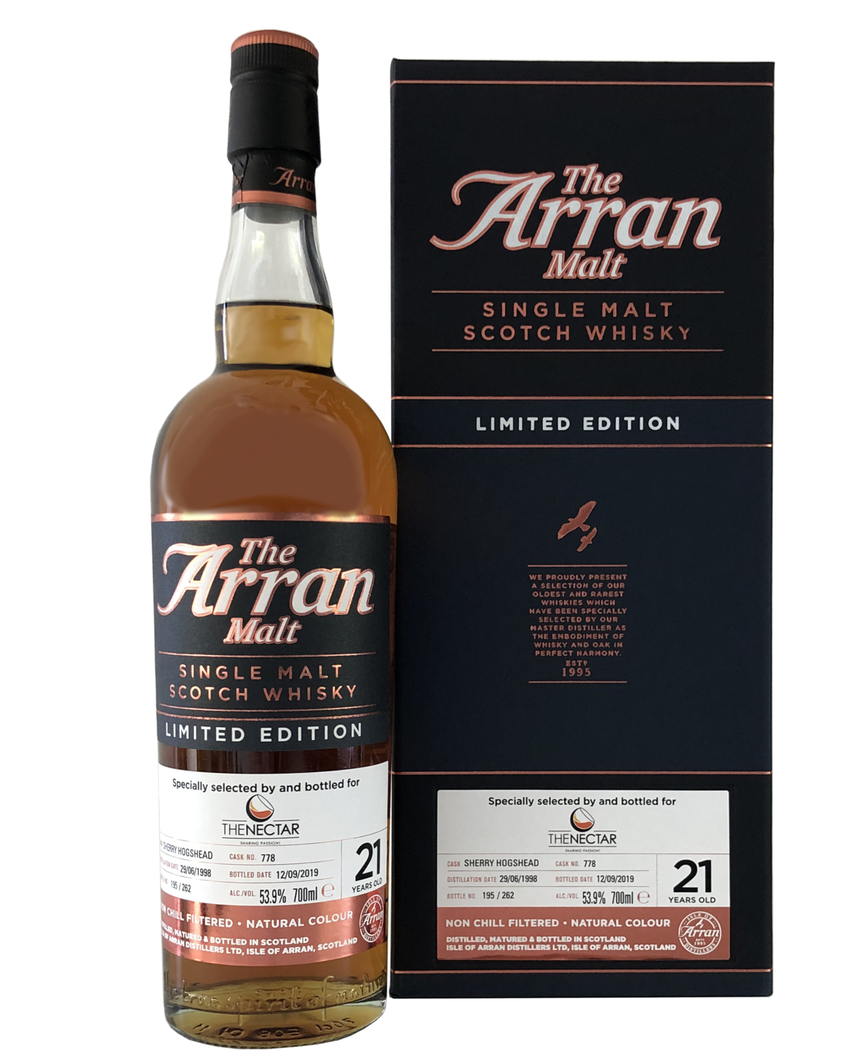 """Arran 21 Years Old (1998-2019) """"For The Nectar"""""""