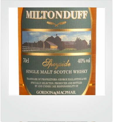 "Miltonduff 10 Years Old ""Gordon & MacPhail"" [sample]"