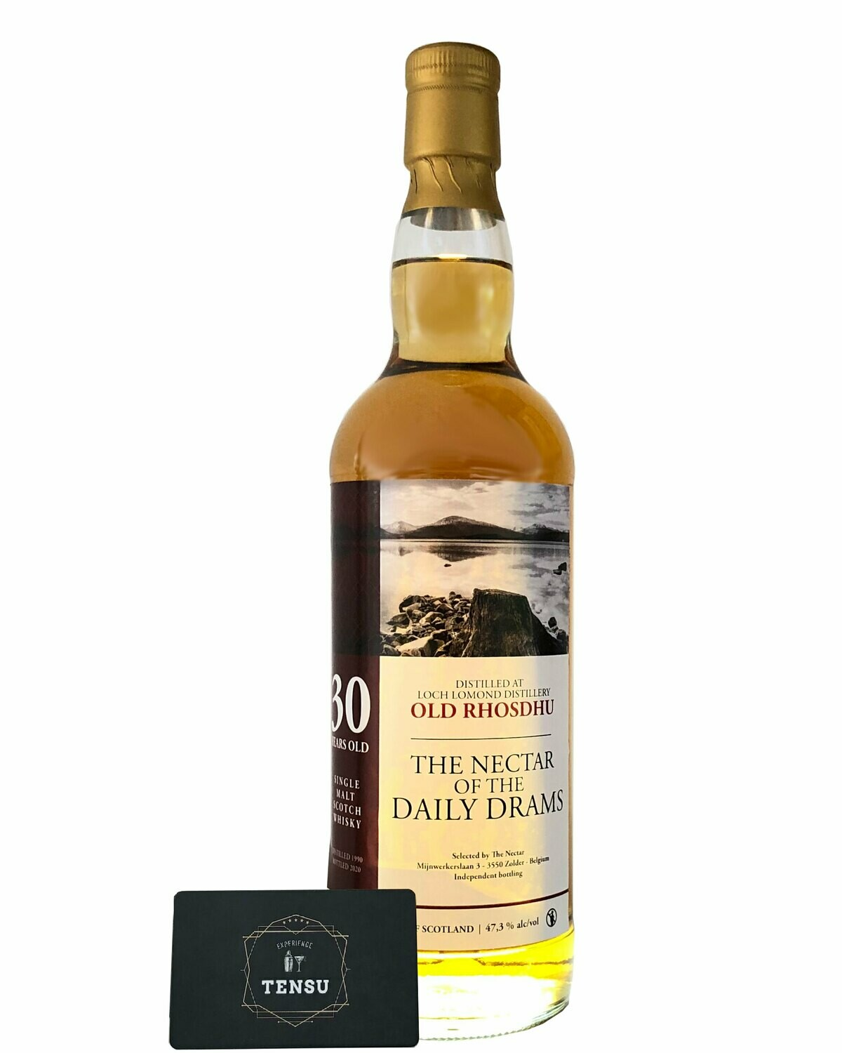 "Old Rhosdhu 30 Years Old (1990-2020) 47.3 Daily Drams ""The Nectar"""