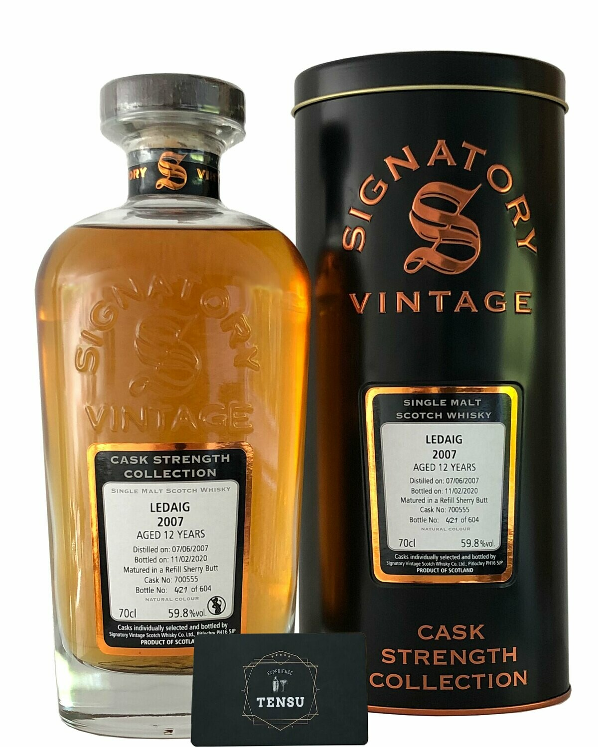 "Ledaig 12Y (2007-2020) 59.8 ""Signatory"" [SAMPLE 2CL]"