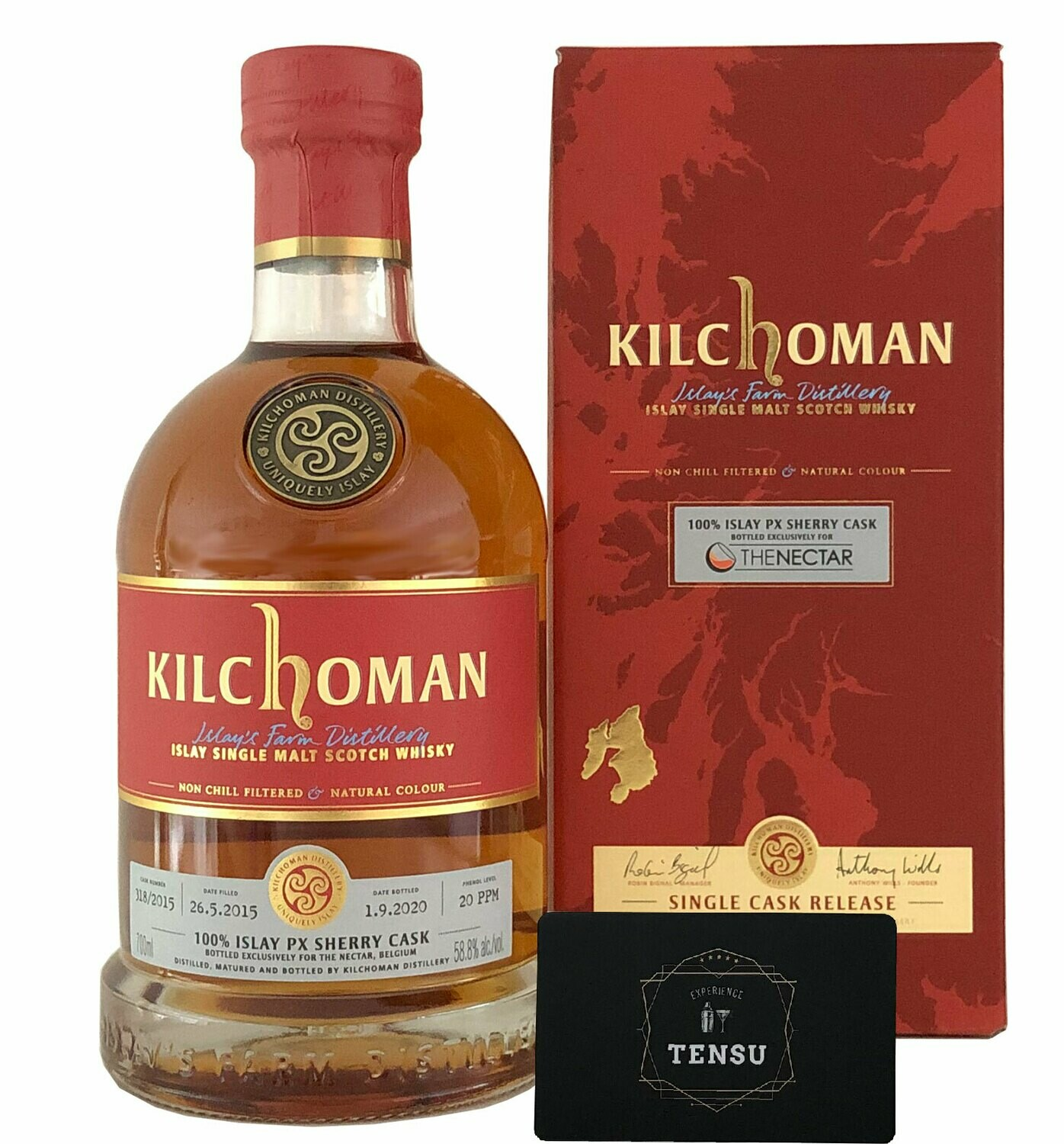 "Kilchoman 5Y 100% PX SC (2015-2020) 58.8 ""For The Nectar"""