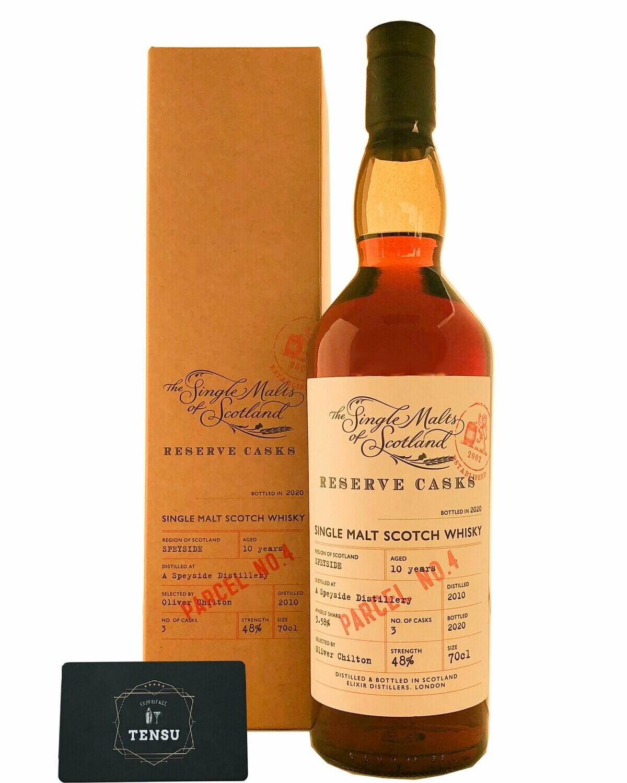 """A Speyside Distillery 10 Years Old (2010-2020) 48.0 """"Elixir Distillers"""""""