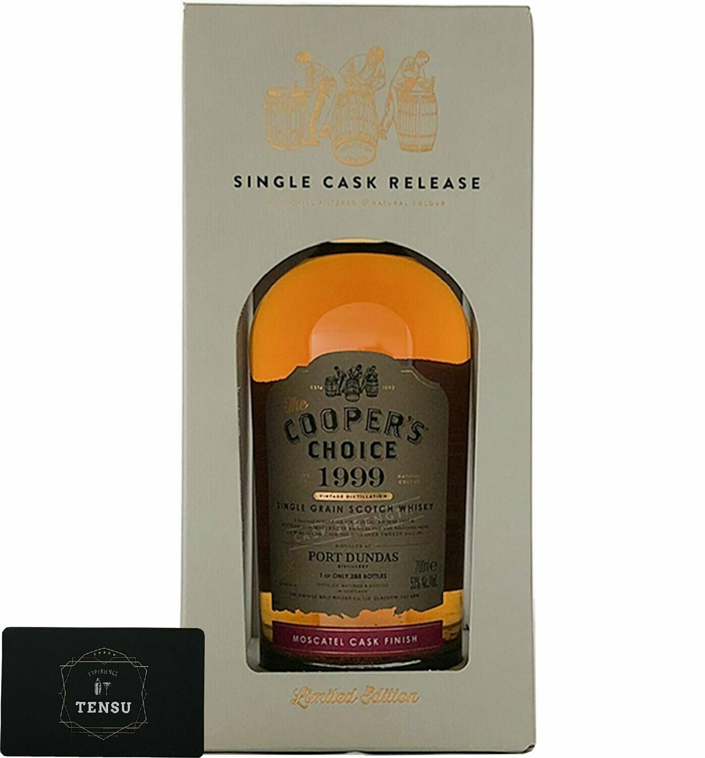"""Port Dundas 20 Years Old (1999-2019) Moscatel Finish 53.0 """"Cooper's Choice"""""""