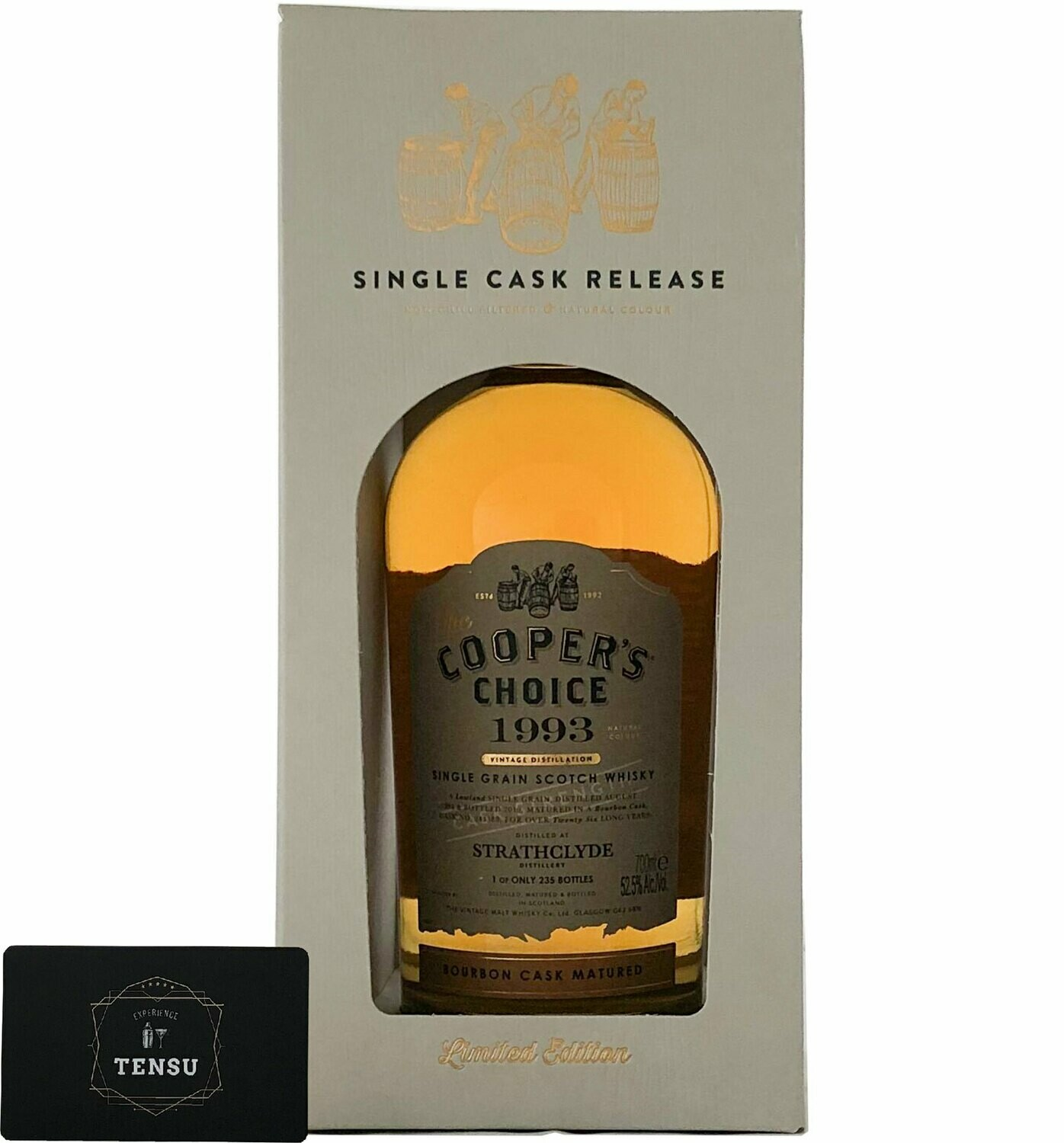 """Strathclyde 26 Years Old (1993-2019) Bourbon Cask 52.5 """"Cooper's Choice"""""""