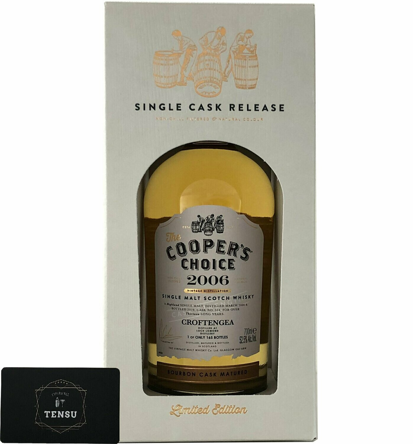 "Croftengea 13 Years Old (2006-2019) Bourbon Cask 52.5 ""Cooper's Choice"""