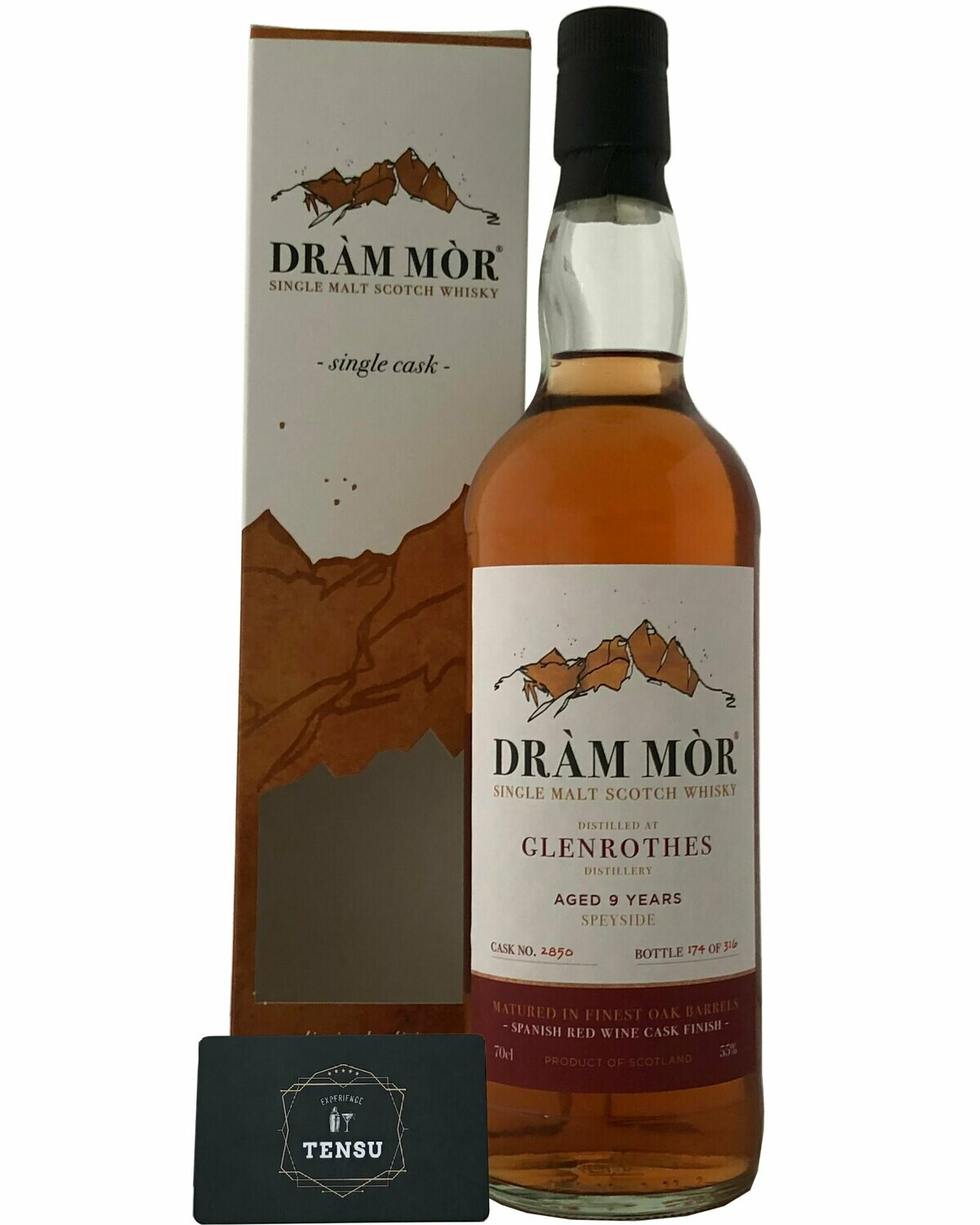 """Glenrothes 9 Years Old (2011-2020) Spanish Red Wine Cask Finish 55.0 """"Dram Mor"""""""