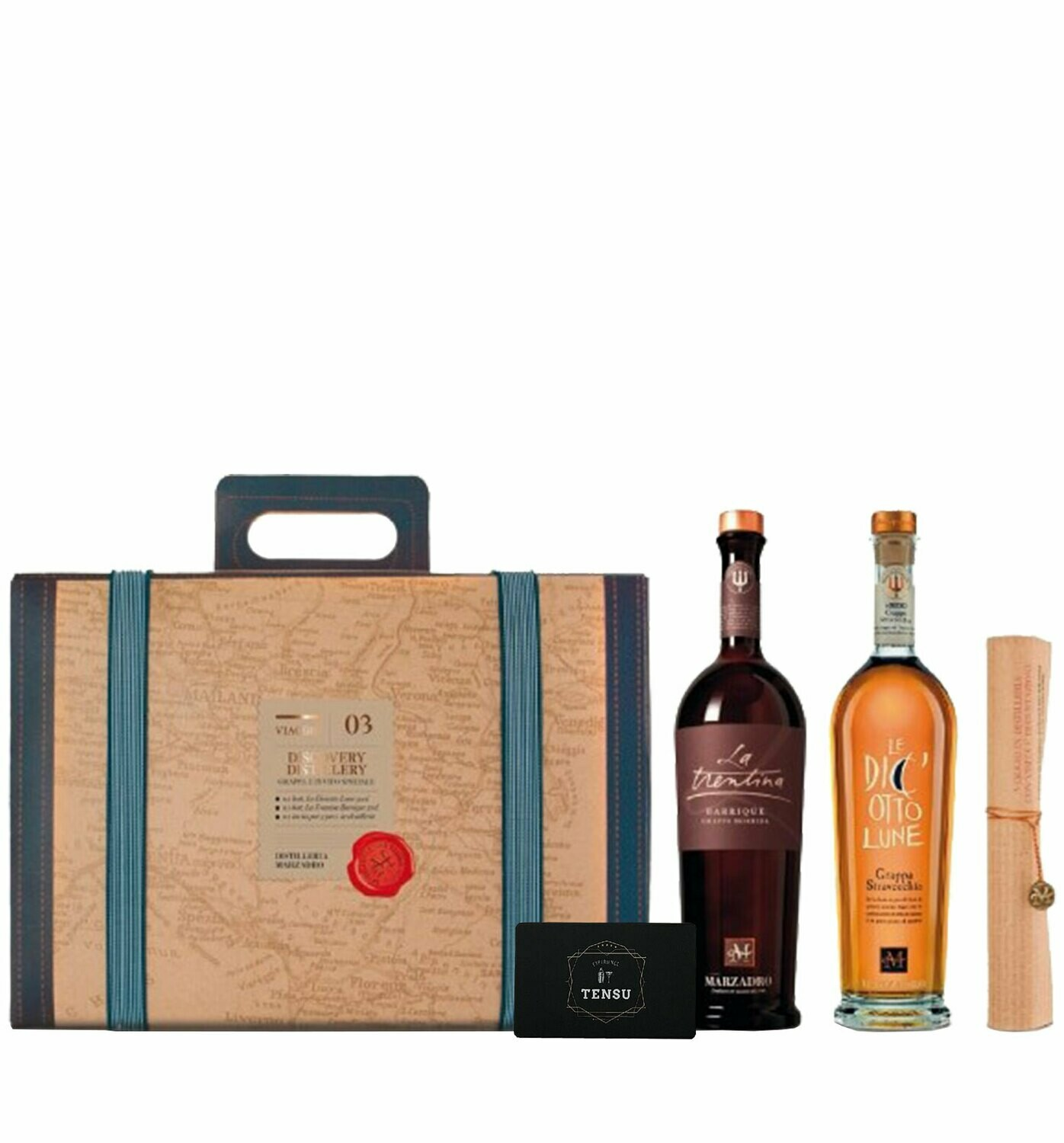 Grappa Marzadro Giftpack Suitcase [2x50cl + invito]