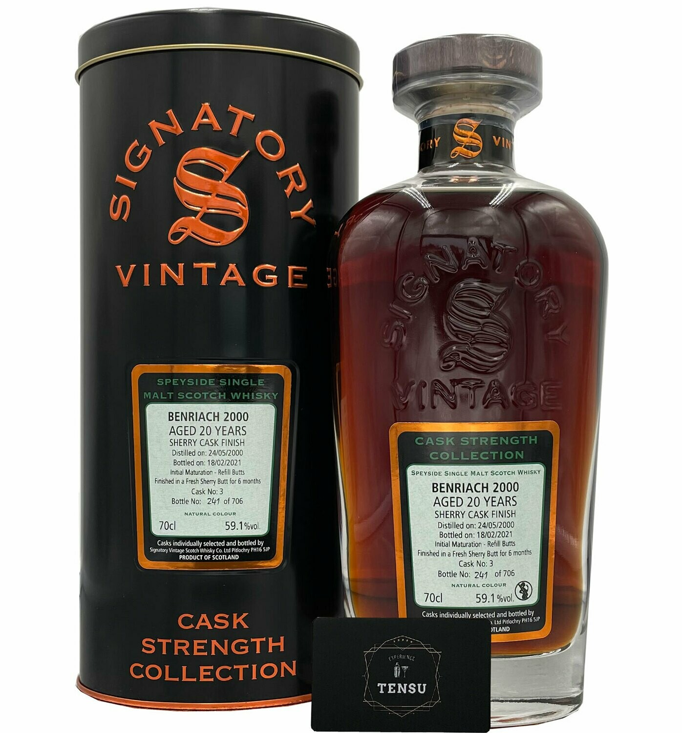 """BenRiach 20 Years Old (2000-2021) 59.1 """"Signatory"""""""
