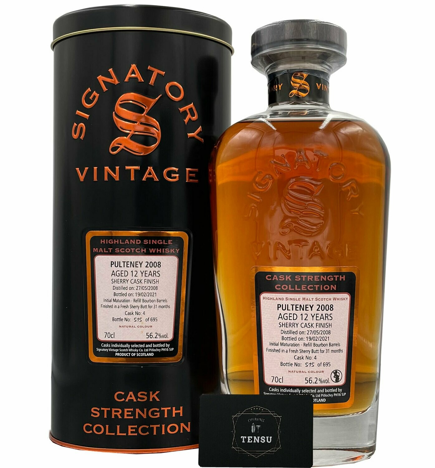 """Old Pulteney 12 Years Old (2008-2021) 56.2 CSC """"Signatory"""""""
