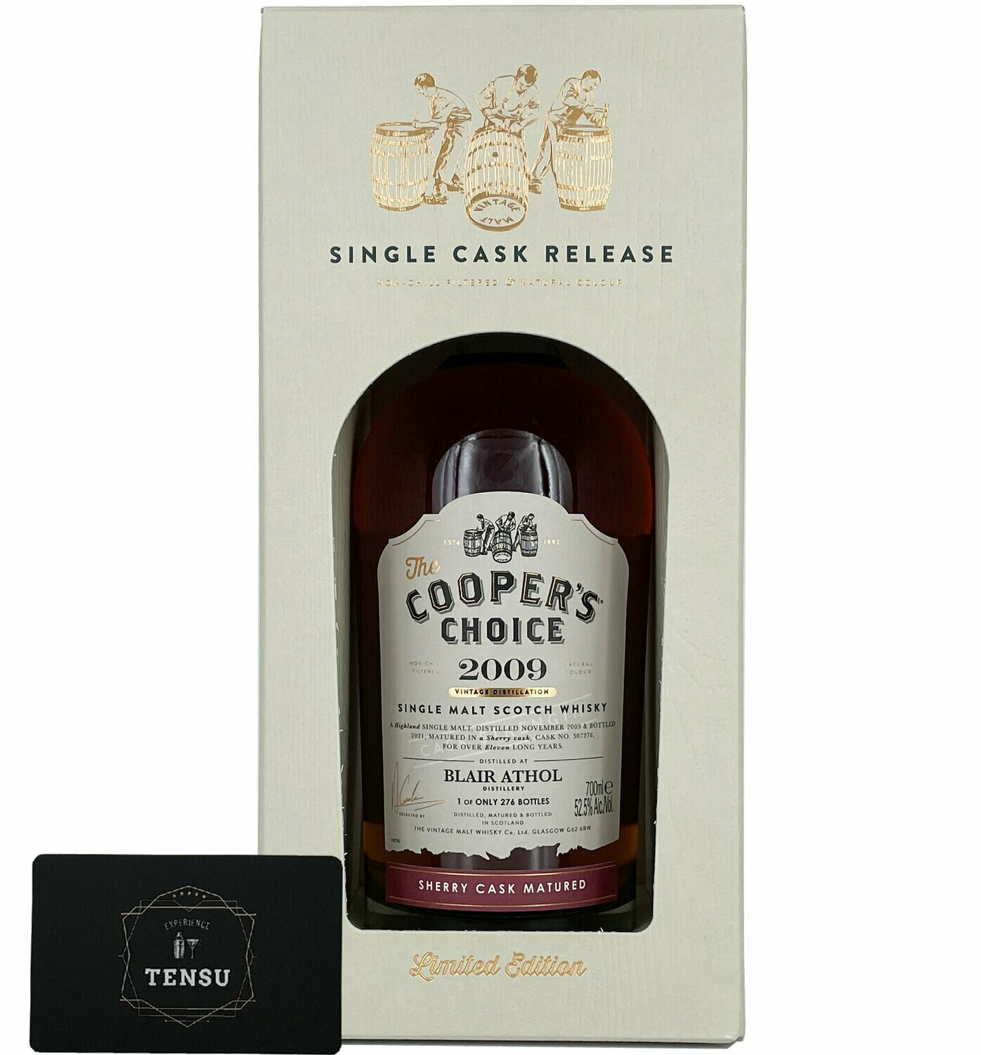 """Blair Athol 11 Years Old (2009-2021) Sherry Cask 52.5 """"Cooper's Choice"""""""