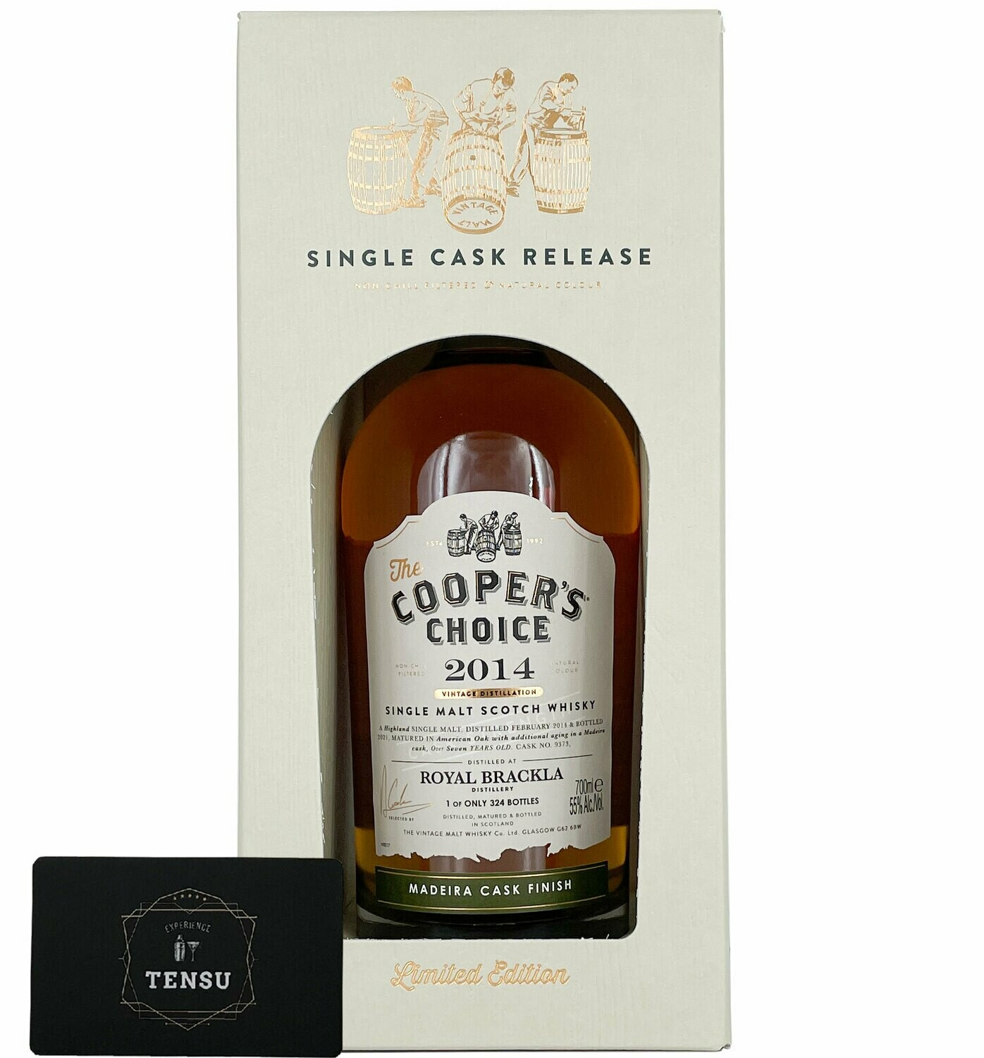 """Royal Brackla 7 Years Old (2014-2021) Madeira Cask 55.0 """"Cooper's Choice"""""""