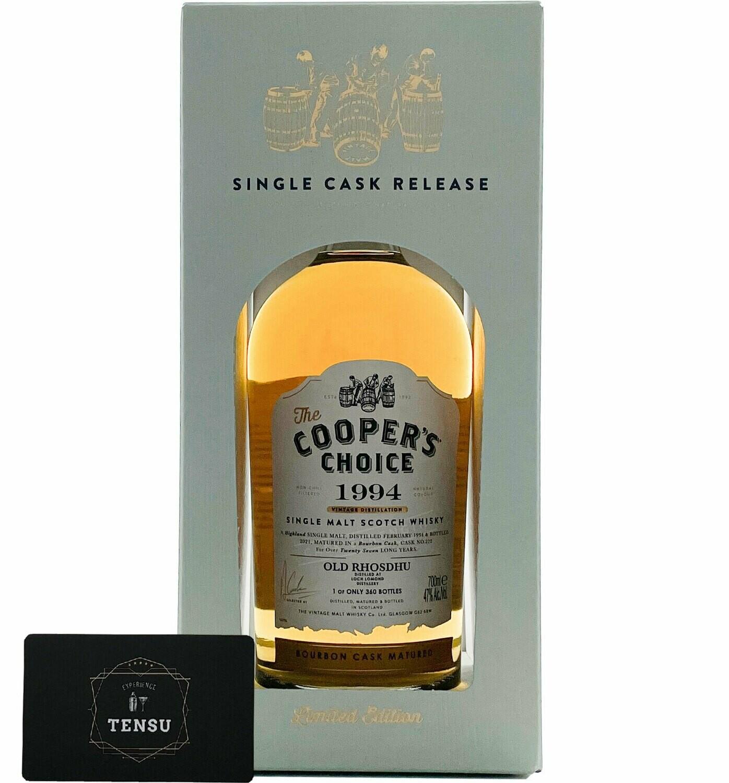 "Old Rhosdhu 27 Years Old (1994-2021) Bourbon Cask 47.0 ""Cooper's Choice"""
