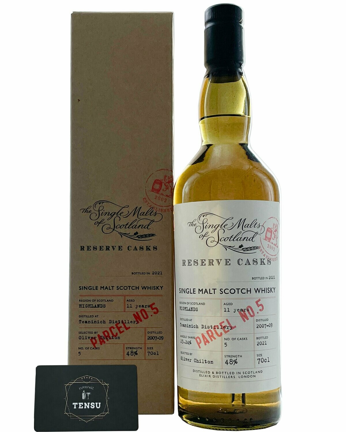 """Teaninich 11 Years Old Parcel No. 5 (2007/2009-2021) 48.0 """"Elixir Distillers"""""""