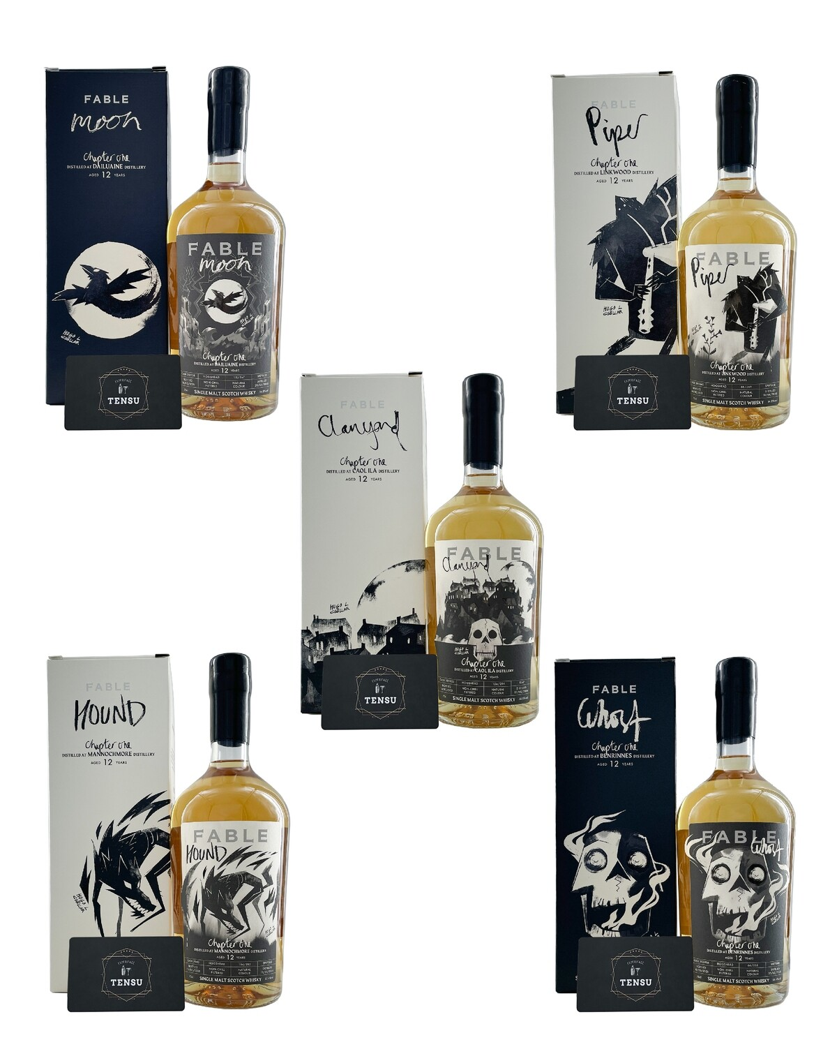 """Fable Whisky The Collection Chapter One (2021) """"SET 5x70CL"""""""