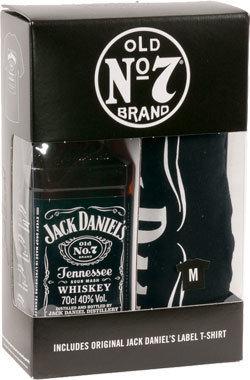 """Jack Daniel's Old N°7 """"70cl bottle + Tshirt"""""""