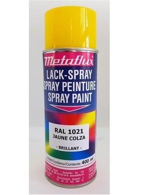 Metaflux Lak Spray RAL 1021 Koolzaadgeel, inhoud: 400 ml