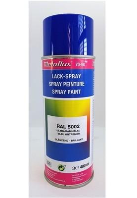 Metaflux Lak Spray RAL 5002 Marineblauw, inhoud: 400 ml
