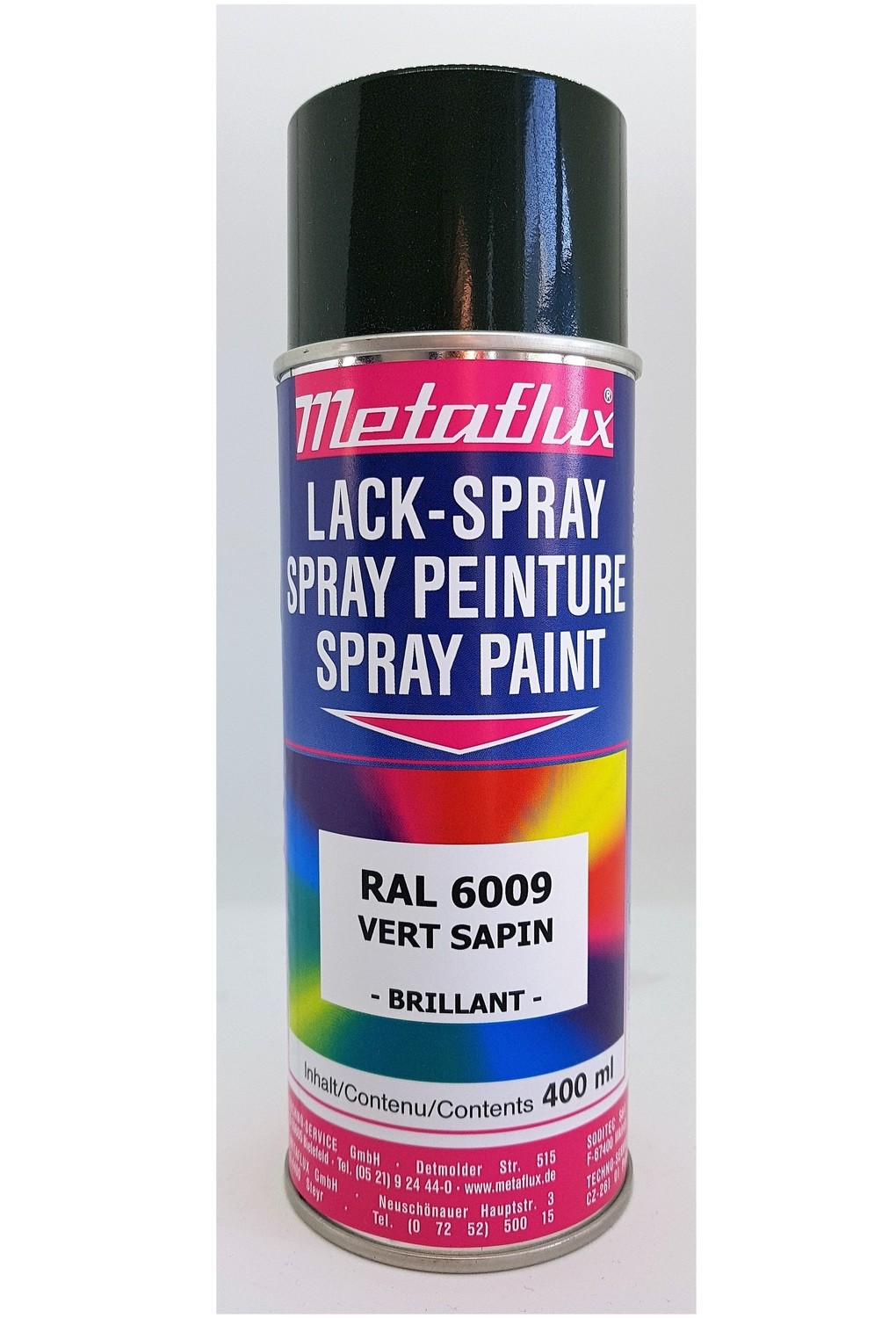 Metaflux Lak Spray RAL 6009 Dennegroen, inhoud: 400 ml