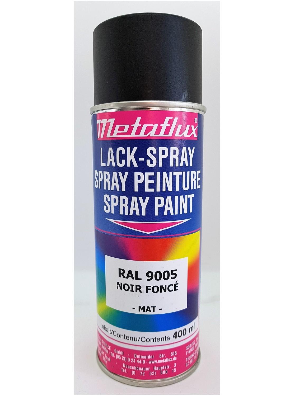Metaflux Lak Spray RAL 9005 Diepzwart, inhoud: 400 ml