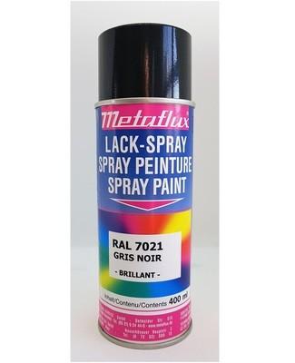 Metaflux Lak Spray RAL 7021 Zwart grijs, inhoud: 400 ml