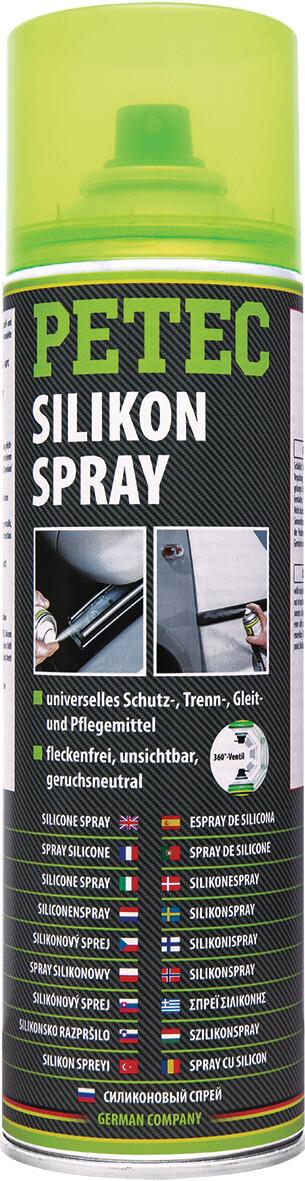 Petec siliconenspray, inhoud: 500 ml