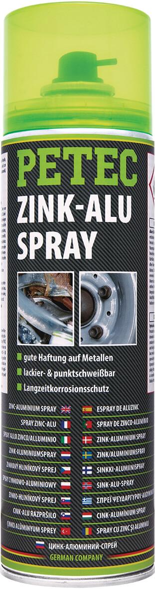 Petec zink-aluminiumspray, inhoud: 500 ml