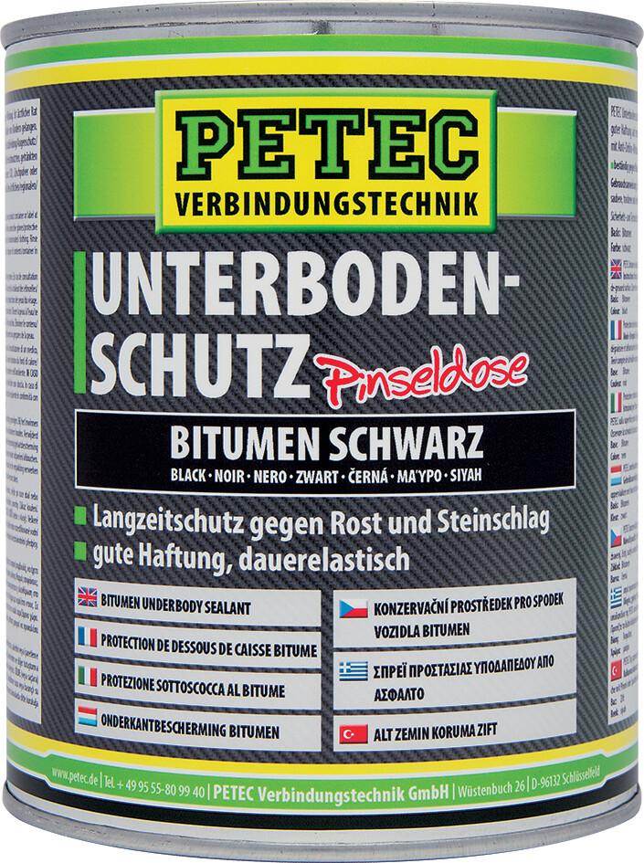Petec bodemplaatbescherming bitumen zwart blik 1 L