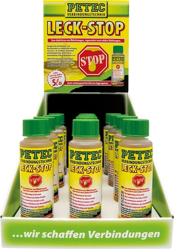 Petec display lekstop additief, inhoud: 12 x 150 ml