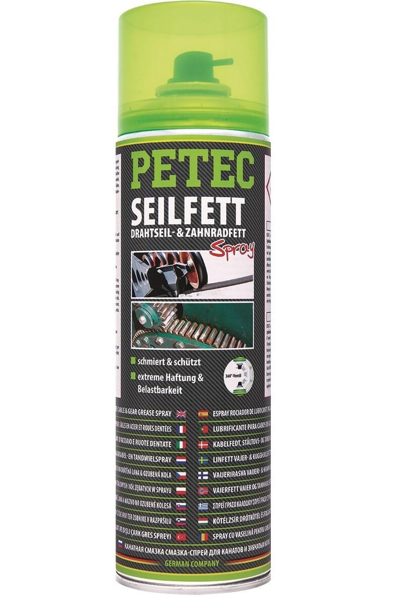 Petec Spray vet voor staalkabel en tandwielen, inhoud: 500 ml