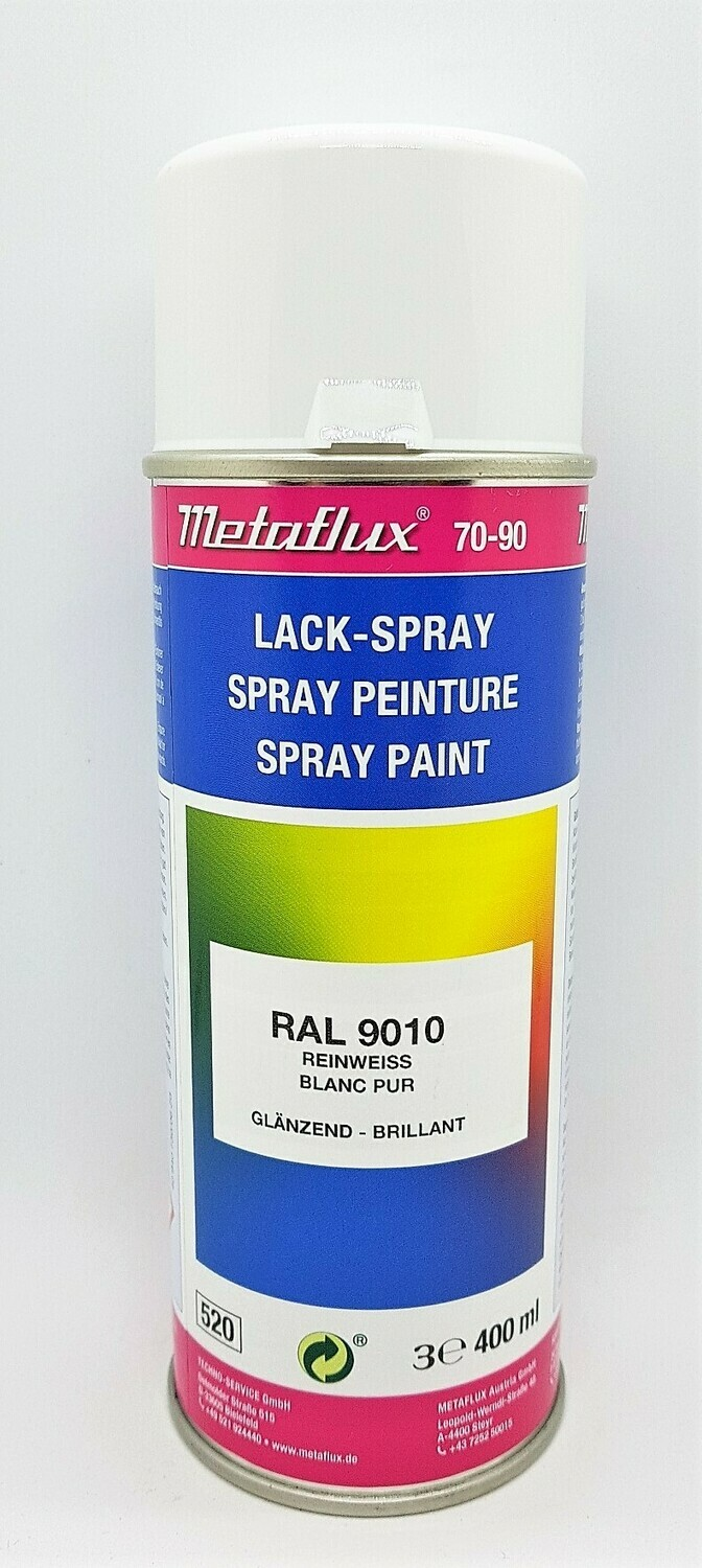 Metaflux Lak Spray RAL 9010 Zuiver wit 400 ml
