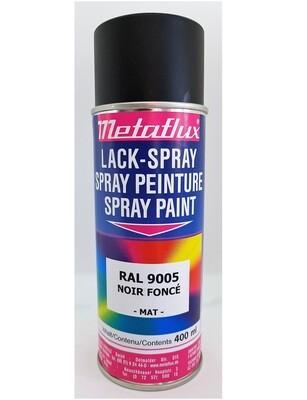 Metaflux Lak Spray RAL 9005 Diepzwart Satiné 400 ml